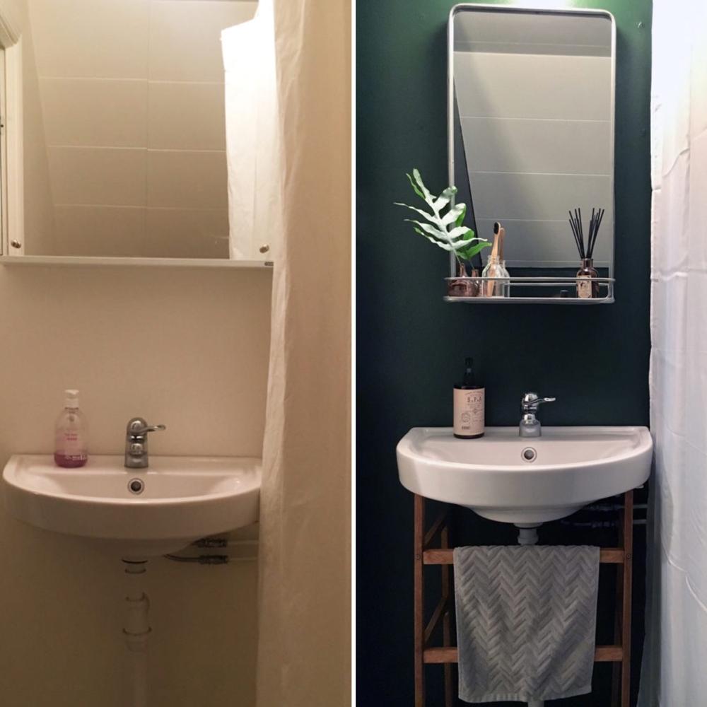 måla badrumsväggar